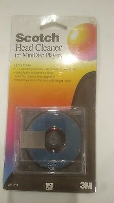 3m Scotch Minidisc Head Cleaner, helps clean minidiscs player not working