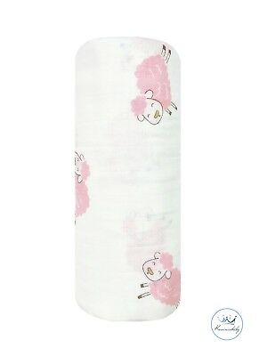 Kunininbaby Jumping Sheep Muslin Baby Swaddle Blanket -100% Cotton-47in.X47in.