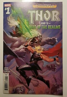 🔥thor Road To War Of The Realms #1 Vf Conan Fantastic Four Halloween Comicfest!