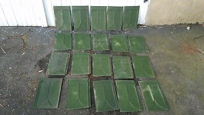 Vintage Tin painted patina Architectural Roof Shingles shingle tiles lot of 20