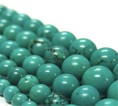 "1pcs Turquoise Gemstone Loose bead 15"" Spacer Beaded DIY Accessorie Healing"