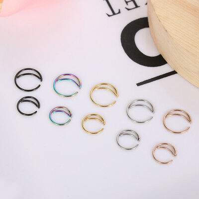 Septum Piercing Cartilage Tragus Earrings Moon Nose Ring Small Nostril Hoop