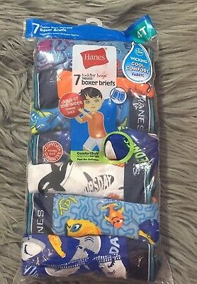Hanes Toddler Boys 4T 7-Pack Days Of The Week Boxer Brief Assorted  NEW