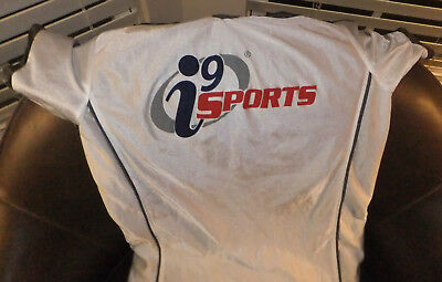 (2)  i9 Sports Grey And White Jersey / Red and Blue Kids Small No 19 Uniform