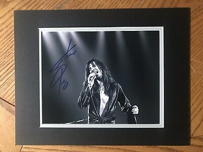 Steve Perry Autographed 8x10  photo COA!  Rock Legend Matted to fit 11x14 frame