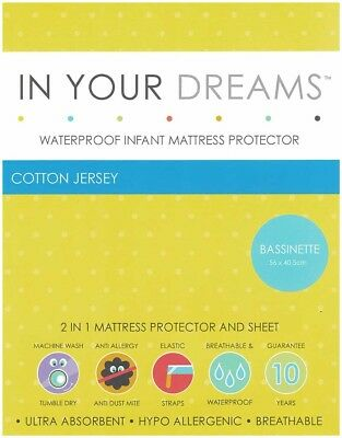 Bassinette Waterproof Infant Mattress Protector | 100% Cotton Jersey