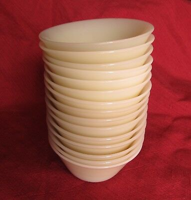 Fire King Ivory Flared Side Custard Cups Set of 15