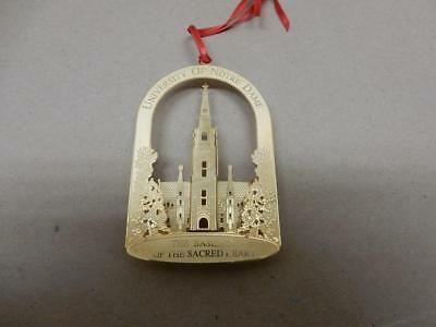 1993 Vintage Notre Dame University Basilica of Sacred Heart Christmas Ornament