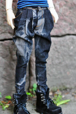 Black Jeans Pants Trousers Outfit Clothes For 1//4 17in Boy BJD MSD AOD DOLL