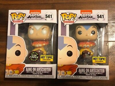 Funko Avatar Last Airbender Aang Airscooter Hot Topic Exc Lot/2 Common & Chase