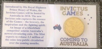 2018 $2 INVICTUS GAMES In Flip. Coin From Royal Australian Mint Coin Roll UNC
