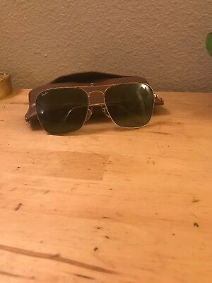 VINTAGE Sunglasses RAY BAN AVIATOR Old SIGNET B & L 1/10 12k Gold Filled 52-20