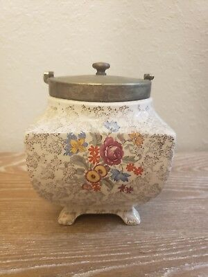 Antique Lancaster & Sandland Ltd Biscuit Jar England Made. Circa 1935  17