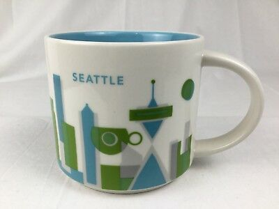 Starbucks 2013 Seattle 14 oz You Are Here YAH Collection Mug Coffee Cup Tea