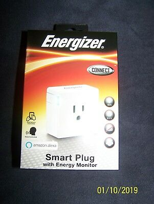 NEW Energizer Connect WIFI Smart Plug - amazon alexa -Voice Controlled