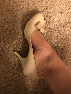 "1950s Original Vintage Pumps 3"" Size 7"