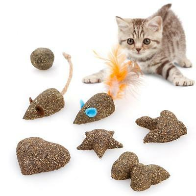 Pet Cat Toys Natural Catnip Healthy Funny Treats Mouse shape Ball For Cat Kitten