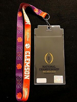 2019 CFP Bay Area Clemson Tigers Championship Two sided Lanyard & Ticketholder