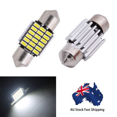 2X SMD LED Festoon Interior Car Light Bulb Bright White Dome Lamp 12V 31MM 18