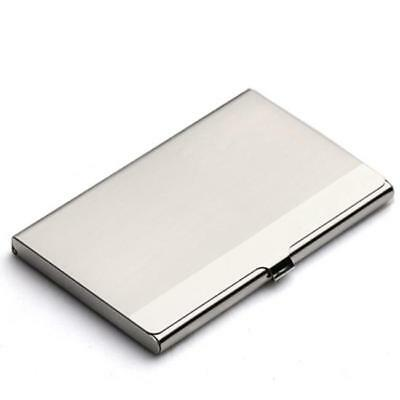 Stainless Steel Business ID Credit Card Holder Wallet Metal Pocket Box Case DD