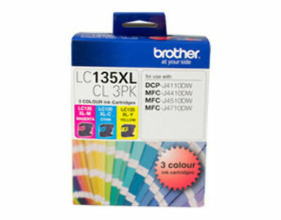 Brother LC135XL COLOUR VALUE PACK 1XCY 1XMAG 1XYEL
