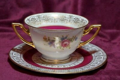 Ovington Brothers ( Ovington's ) Antique Bouillon Cup and Saucer Thomas Bavaria
