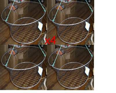 Crab Net - Wire MESH  Base - 2 Ring - ( x 4 Nets)