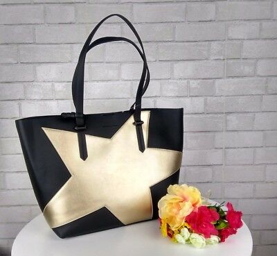 3de814042a9de KENDALL + KYLIE Handbag Izzy Star Tote Gold Metallic with Pouch and ...