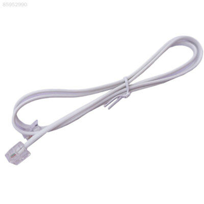 07A8 5M White ADSL2 RJ1 Indoor Broadband Internet Telephone Phone Line Cable
