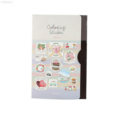 F99A Painting Sticker Graffiti Relaxtion Painting Decoration Crafts Kawaii