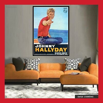 Replique Affiche Toile Poster Photo Concert Cd Johnny Hallyday Tournee 1963 Dvd