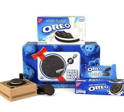 Oreo Music Box Cookie Record Player Collectible Holiday Gift Tin Rare *IN HAND*
