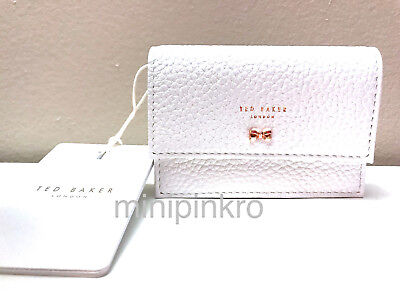promo code c5a30 b5eba TED BAKER LONDON Eves Textured Leather Concertina Credit Card Holder  White/Pink