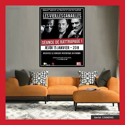 Toile Affiche Cinema Film Concert Poster Photo Les Vieilles Canailles Johnny Dvd