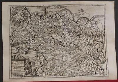 Russia China Mongolia Tibet Korea 1736 Van Der Aa Antique Copper Engraved Map