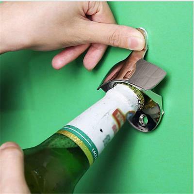 Stainless Steel Wall Mount Fixed Bar Beer Glass Cap BOTTLE OPENER With Screw