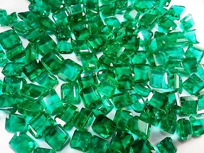 100 CT Green Emerald Chatam  Wholesale Lot AAA+Good Quality Gemstone A2
