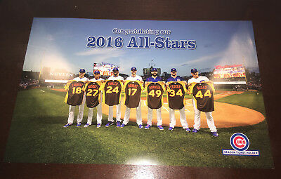 CHICAGO CUBS 2016 All-Stars Poster SEASON TICKET HOLDER EXCLUSIVE Wrigley Field