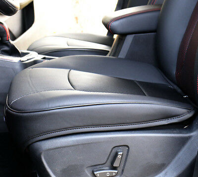PU Leather  Car Cover Seat Deluxe Protector Cushion Black Front Cover Universal