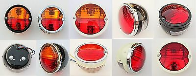 2x Rear /Tail Light with Tractor Trailer Truck Vintage Licence Plate window