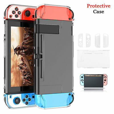 Clear Shockproof Hard Protective Case Cover For Nintendo Switch Console Games