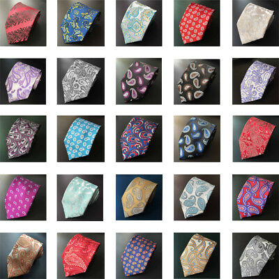 New 8 CM Men Classic Ties Stain Multi Paisley Jacquard  Neck Tie Wedding Party