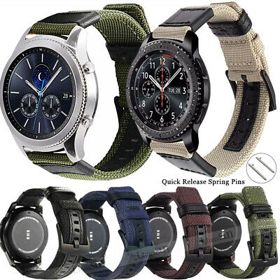 For Samsung Galaxy Watch Gear S3 SPORT 42 / 46mm Leather Nylon Watch Band Strap