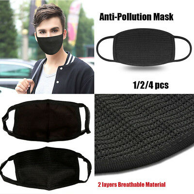 Fashion Unisex Black Health Cycling Anti-Dust Cotton Mouth Face Mask Respirator.