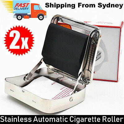 Stainless Automatic Cigarette Tobacco Roller Roll Rolling Machine Box Case Maker