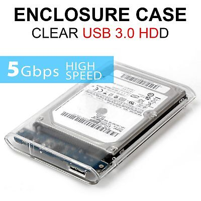2.5 Inch USB 3.0 External SATA III Hard Drive HDD/SSD Enclosure/Caddy Case