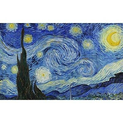 """(90""""x144"""", Starry Night) - Wall26 - Large Wall Mural - Famous Oil Painting"""