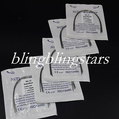 10 Packs Dental Ortho NiTi Super Elastic Round Arch Wire Square/Ovoid/Natural
