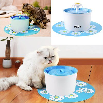 Automatic Electric Pet Cat Water Fountain Dog Drink Dispenser Bowl Dish Feeder