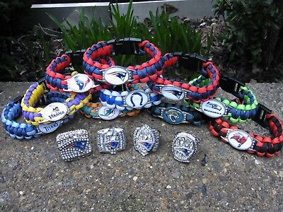 New England Patriots Super Bowl Rings  + Wristbands American Football.wow.